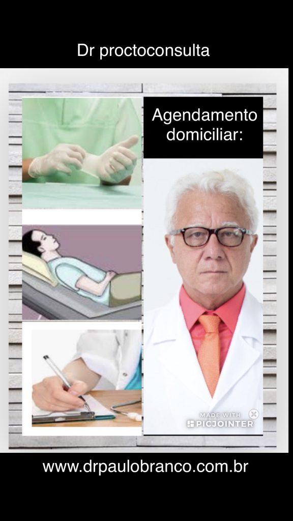 Dr proctoconsulta para atendimento domicilar das doenças proctologicas.