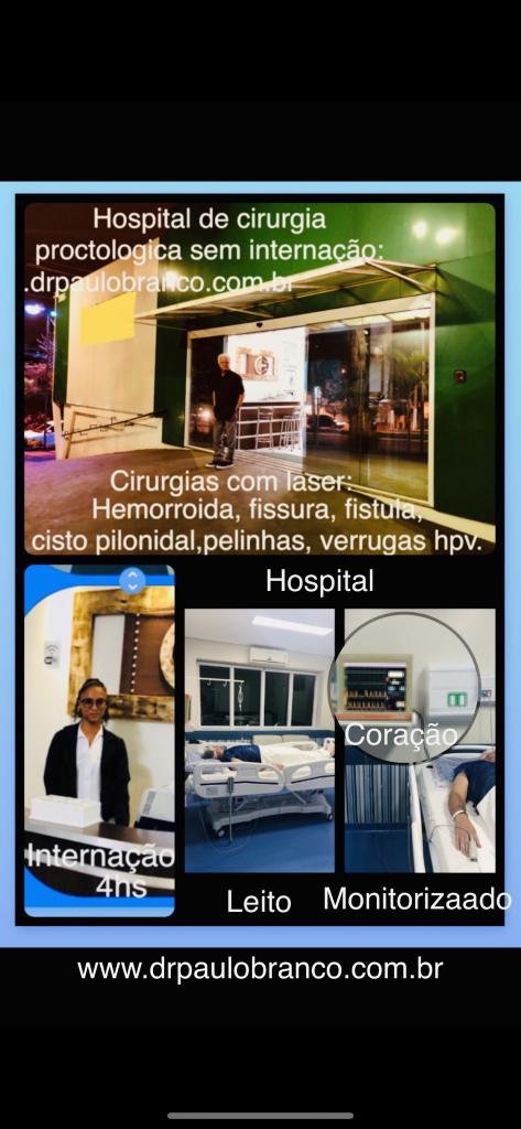 hospital dia de proctologia com laser sem internação.